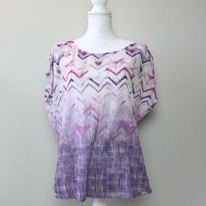 PrAna Purple Dolman Short Sleeve Top